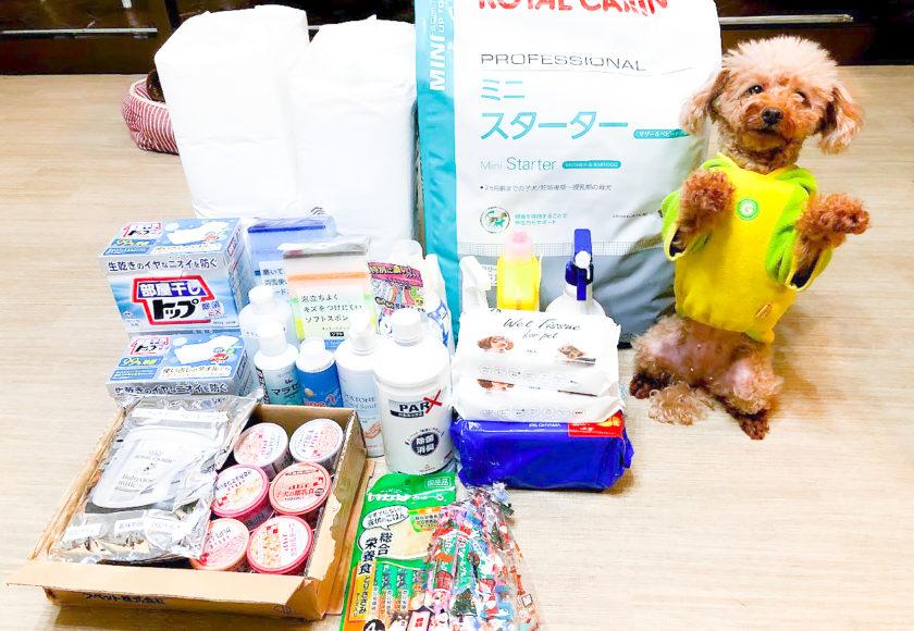 青森愛犬美容学院様から支援物資をいただきました。心より御礼申し上げます。